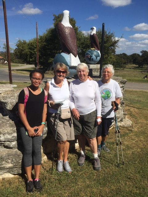 Group of CRW walkers at Waring in 2016