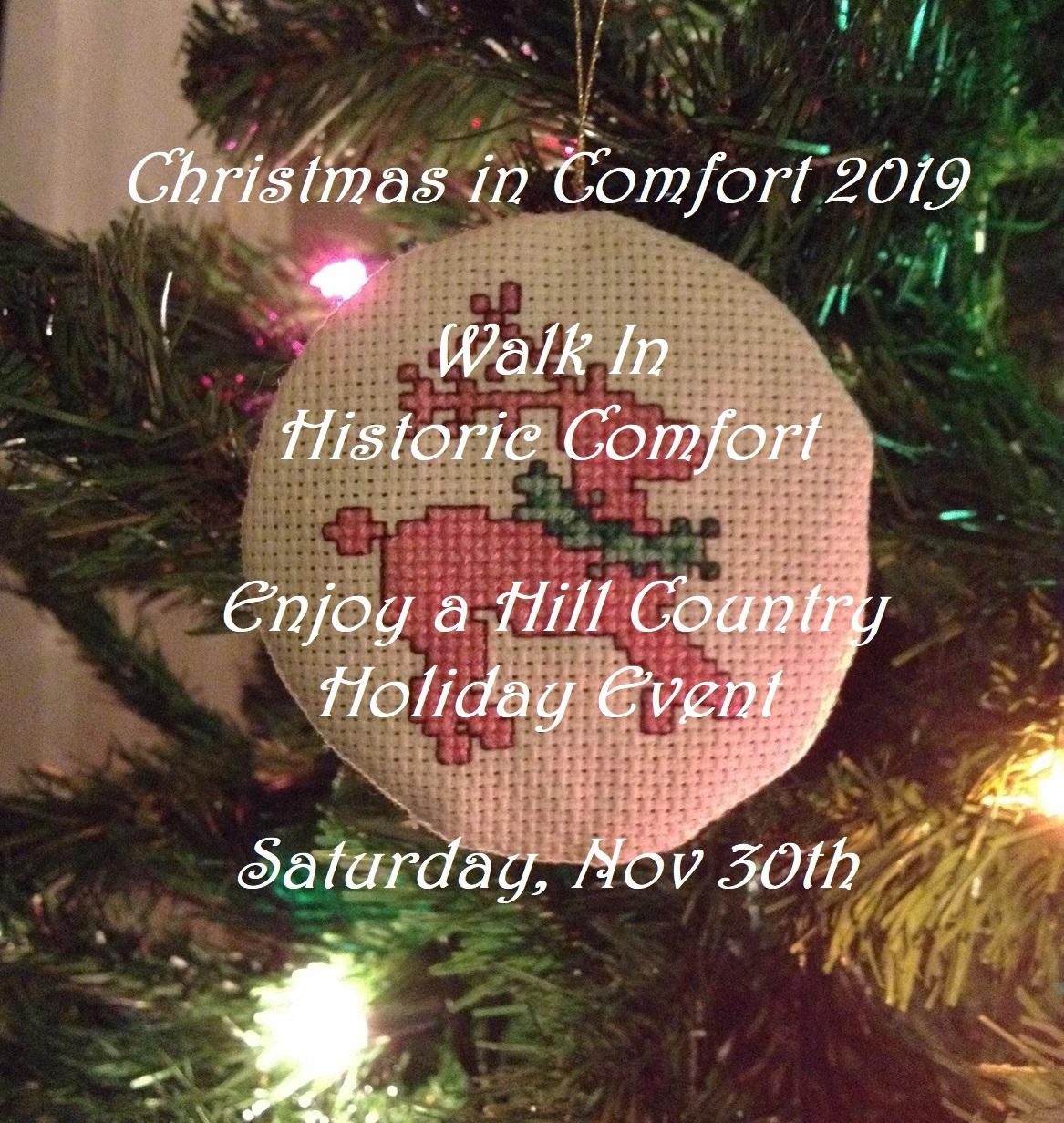 Christmas in Comfort Walk Nov 30th