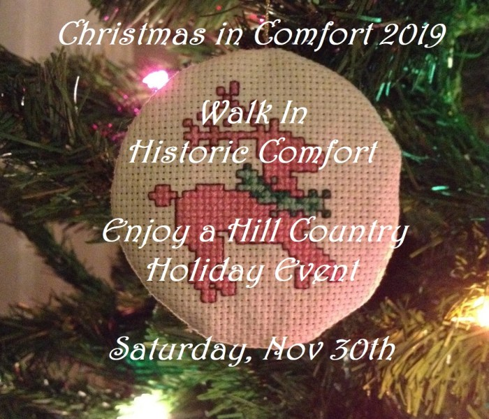 Christmas in Comfort Walk Nov 30th