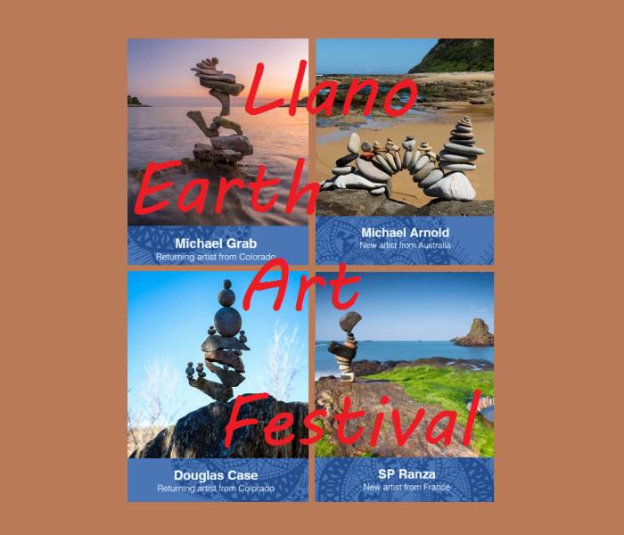 Llano Earth Art Fest Walk on March 14th
