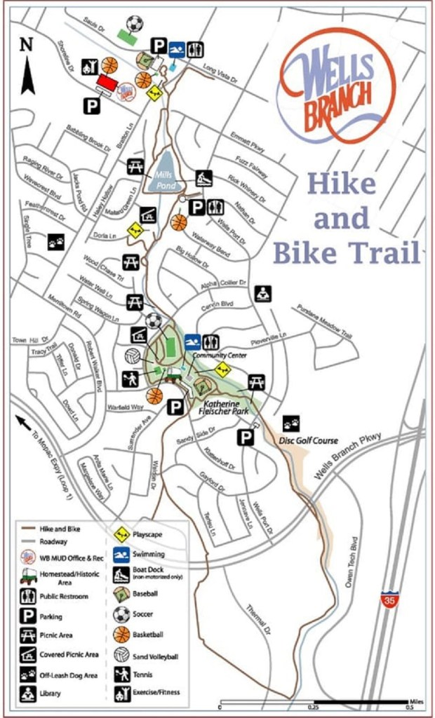 Wells Branch Hike and Bike Trail map