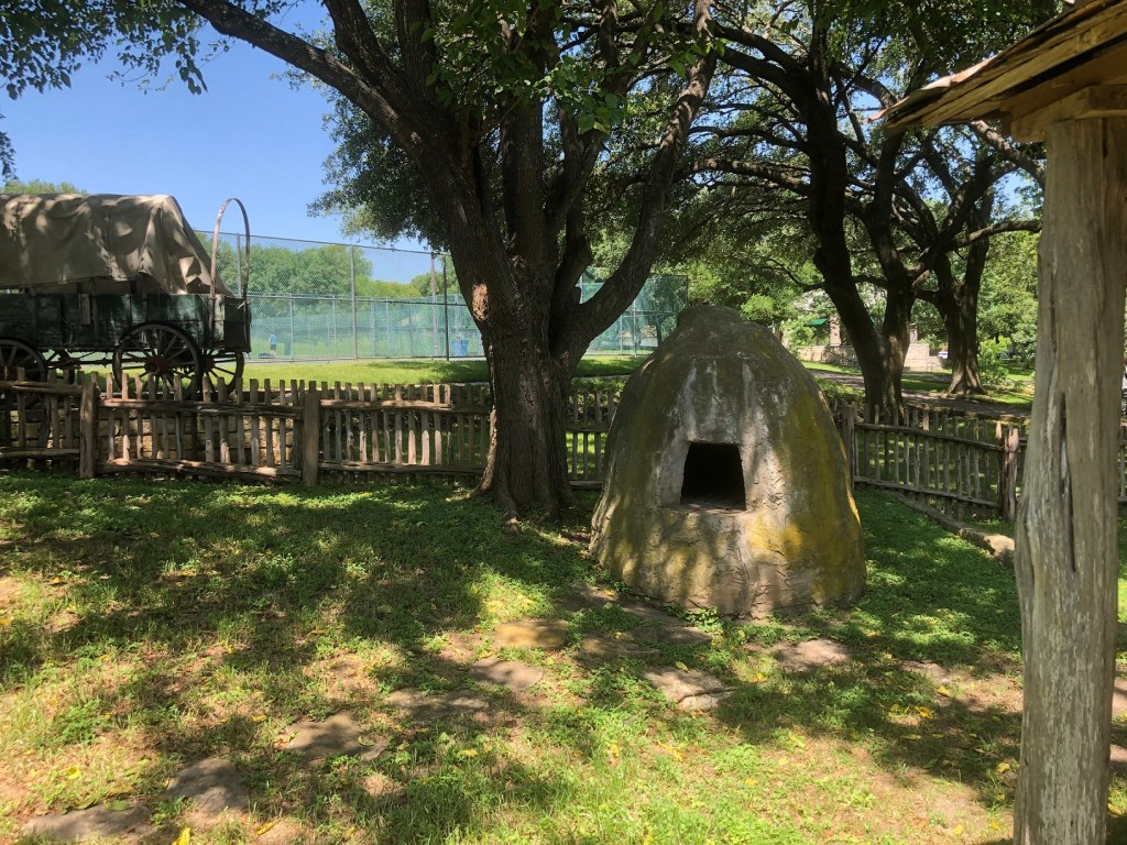 Homestead in Katherine Fleischer Park in north Austin with outdoor oven