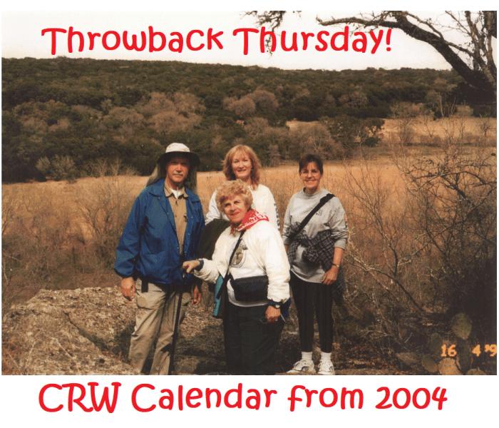 CRW Calendar from 2004