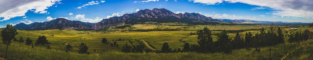Flatirons mountains, Boulder, Colorado