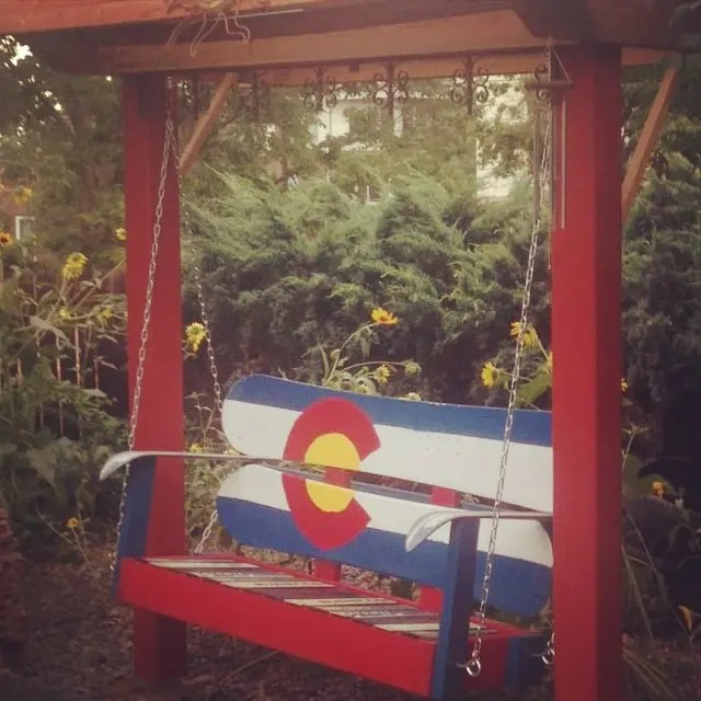 Colorado Snowboard Porch Swings hand painted and beautiful