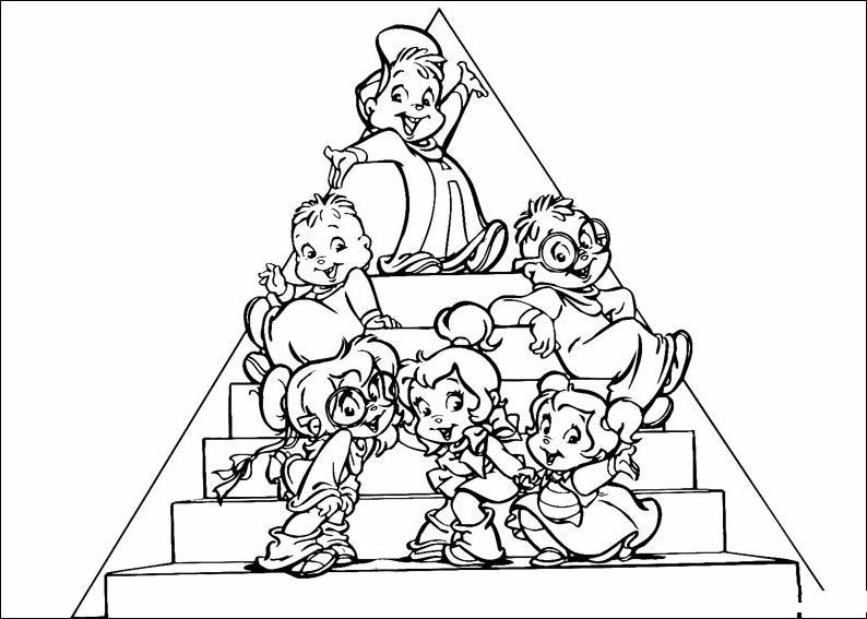 Alvin 3 Disegni Per Bambini Da Colorare