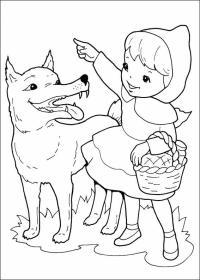 Cappuccetto Rosso, Disegni per bambini da colorare