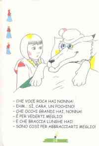 Colora Fiaba Cappuccetto Rosso, Disegni per bambini da ...