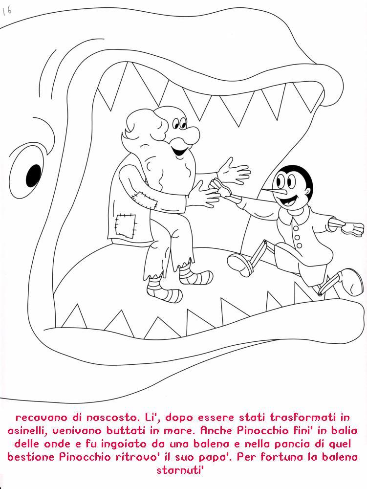 Colora Fiaba Pinocchio 5 Disegni Per Bambini Da Colorare