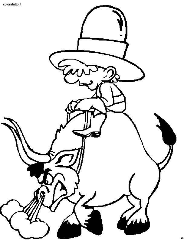 Cow Boy 6 Disegni Per Bambini Da Colorare