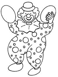 Pagliacci 3, Disegni per bambini da colorare