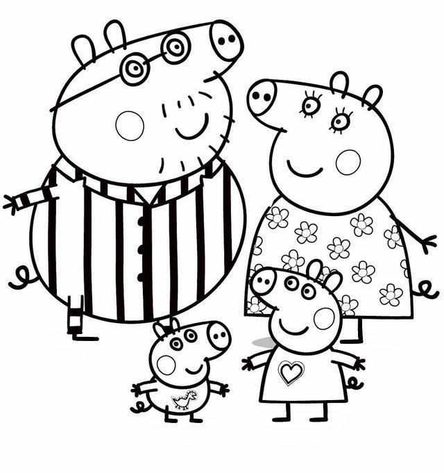 Peppa Pig 5, Disegni per bambini da colorare