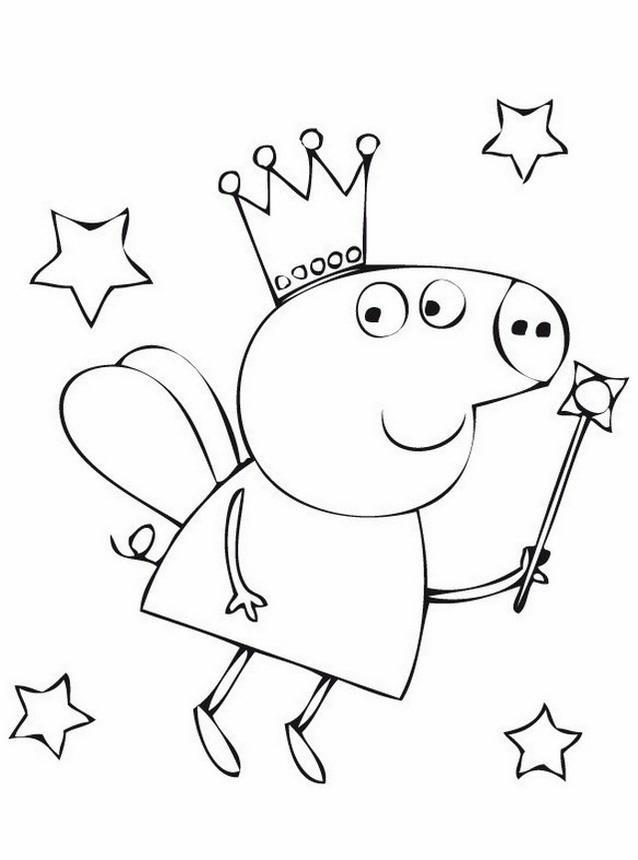 Peppa Pig 7 Disegni per bambini da colorare
