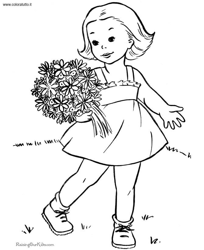 Primavera 4, Disegni per bambini da colorare