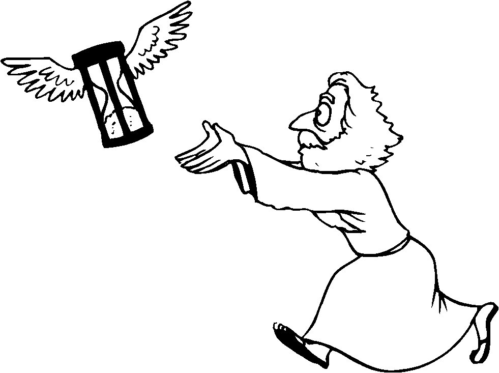 Father Time Running Newyearsfathertime Coloring Page