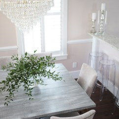 Farmhouse Glam Living Room Indoor Outdoor Design Reveal | The Dining Color By K