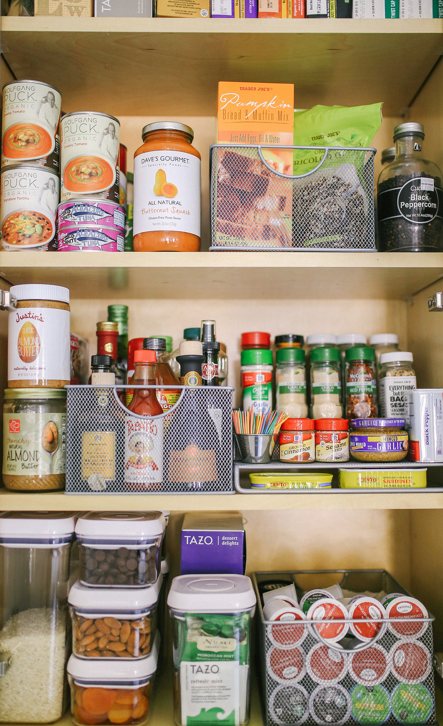 organized pantry color by k