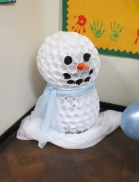 Winter Wonderland for school. The snowman