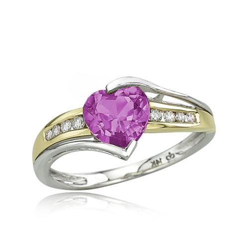 Purple diamond wedding ring  Color Diamond Wedding Ring