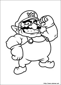 Cool Mario Pictures Coloring