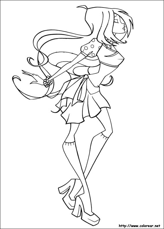Winx Club Coloring Pages Harmonix