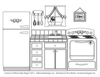 Cocina #63544 Edificios y Arquitectura Colorear dibujos gratis