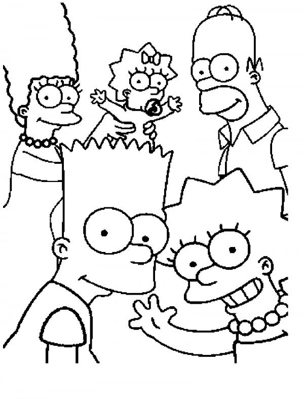 Para colorear Los Simpsons: Imágenes para descargar