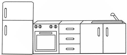 Muebles para colorear: Descargar e imprimir mobiliario Colorear imágenes