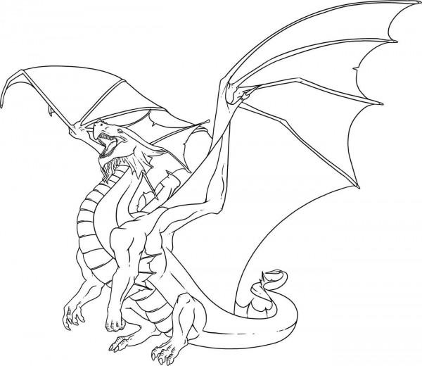 + 30 dibujos de dragones terroríficos para imprimir y