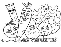Dibujos De Alimentos Saludables Para Colorear Alimentos