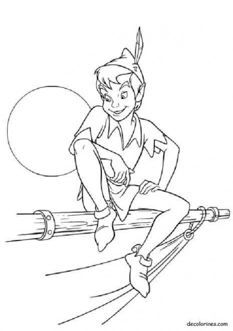 Dibujos De Peter Pan Para Colorear Colorear Imgenes
