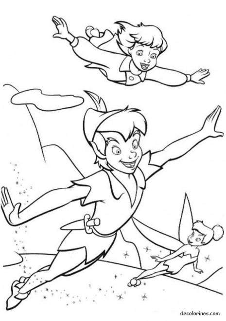 Coloreemos y juguemos con Peter Pan y Campanita Descargar