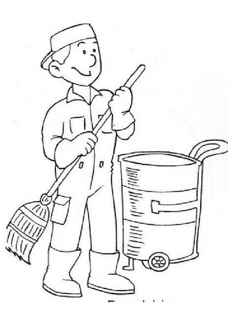 Profesiones y oficios para colorear y pintar el Da del