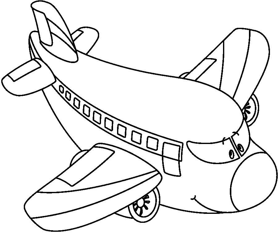 Avion Para Colorear Pintar E Imprimir