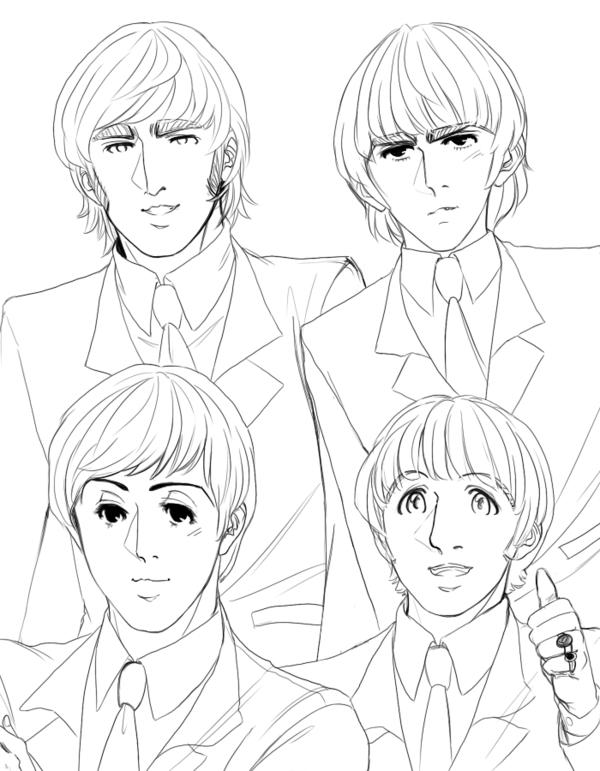 The Beatles para pintar  Colorear imgenes