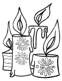 Dibujos Para Colorear Velas Maestra De Infantil Velas