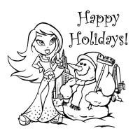 Dibujos de Happy Holidays para colorear | Colorear imgenes
