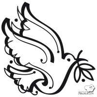 Paloma de la Paz para pintar | Colorear imgenes
