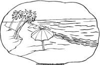 Dibujos de playas para colorear   Colorear imgenes