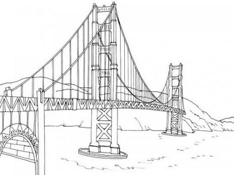 Dibujos de puentes para colorear  Colorear imgenes