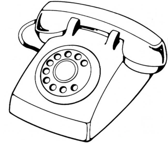 Vintage Phones Drawing Coloring Coloring Pages