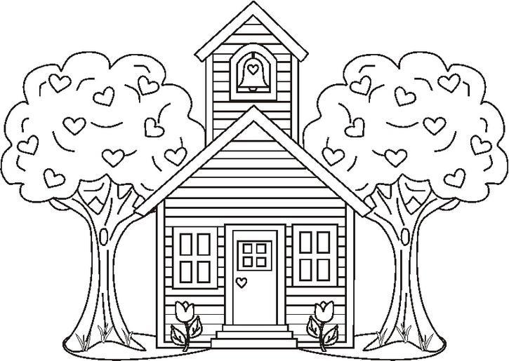 Dibujos de iglesias para pintar  Colorear imgenes