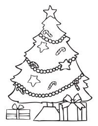 Dibujos de arbolitos de Navidad con regalos para colorear ...