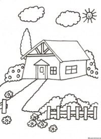 Paisajes De Casas De Campo Para Colorear Dibujos De