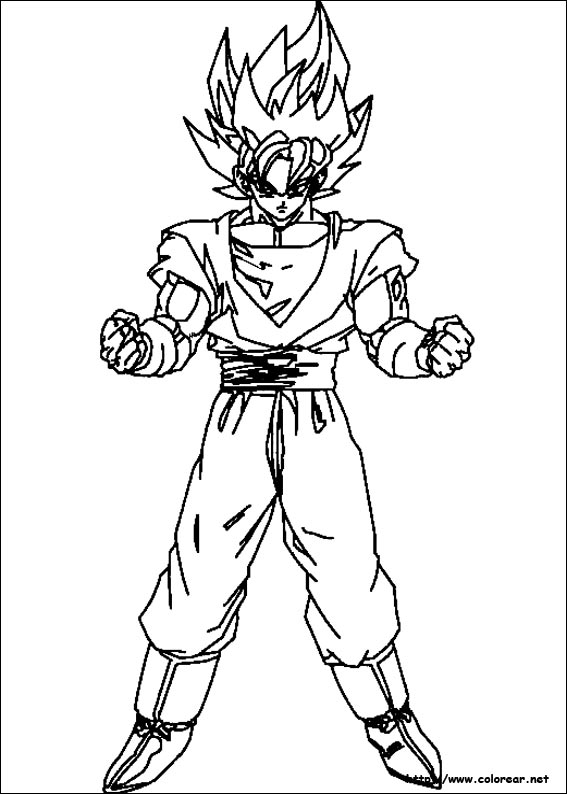 Imgenes para colorear de Dragon Ball Z muy originales