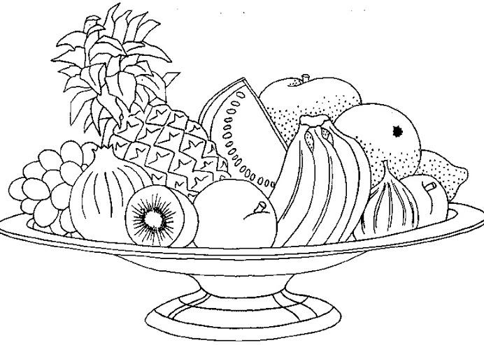 Dibujos de frutas para pintar  Colorear imgenes