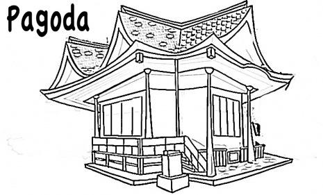 Dibujos de pagodas para colorear  Colorear imgenes