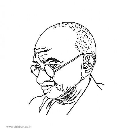 Dibujos de Mahatma Gandhi por el Da de la No Violencia y la Paz para colorear  Colorear imgenes