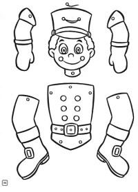 Marioneta Letra E Para Armar Pintar Y Colorear