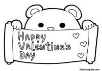 """Dibujos para colorear de """"Happy Valentines Day ..."""